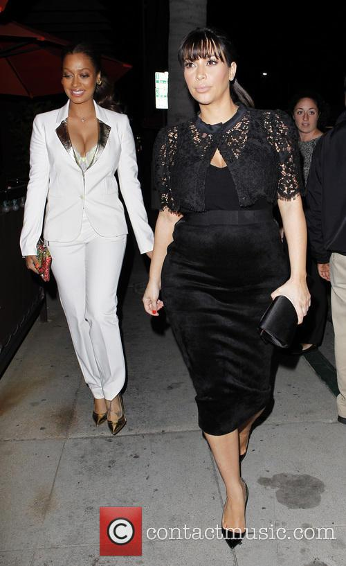 Kim Kardashian and LaLa Vasquez go for dinner...