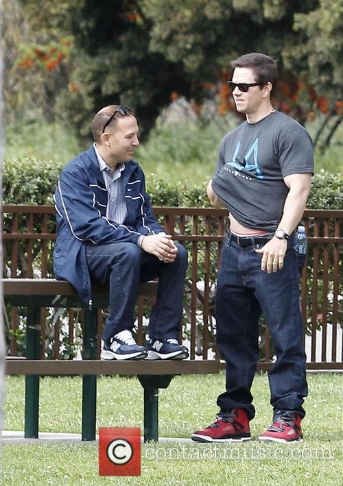 Mark Wahlberg and his son Brendan  spend...