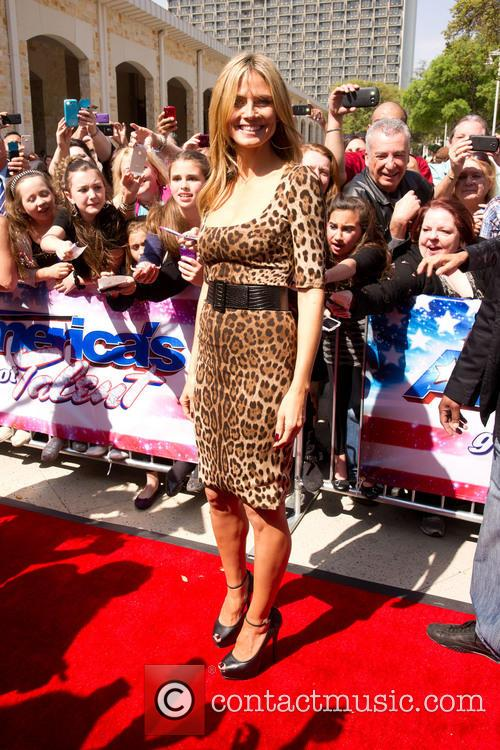 heidi klum americas got talent arrivals held 3566206