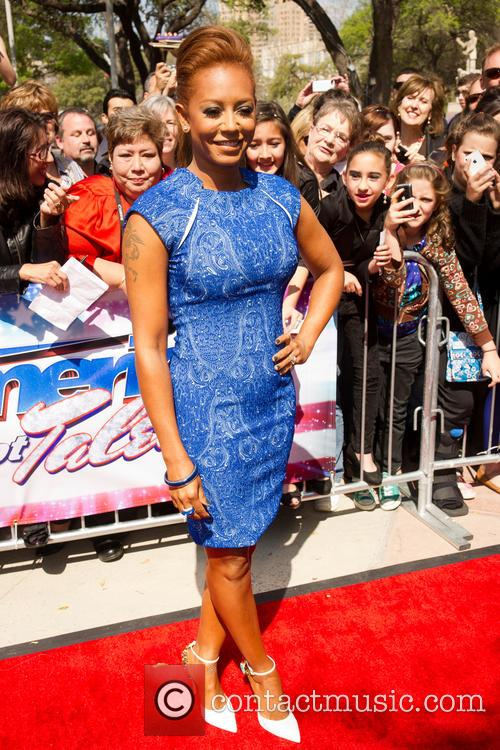 melanie brown americas got talent arrivals held 3566195