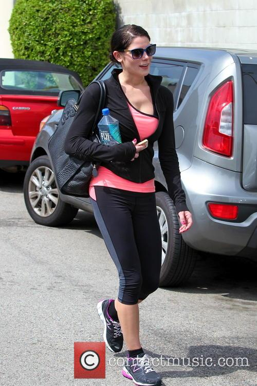 Ashley Greene seen leaving the gym