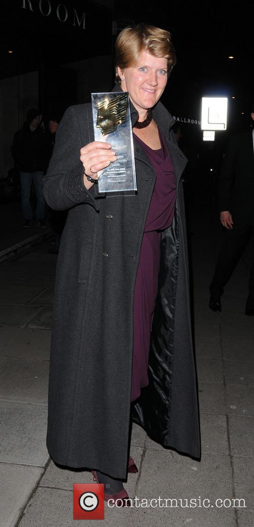 Celebrities outside the Royal Television Society Awards at...