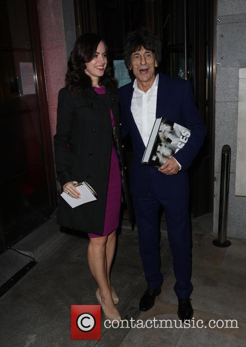 Ronnie Wood and Sally Humphreys 1
