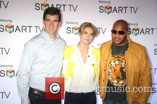 Eli Manning, Kate Upton and Flo Rida 7