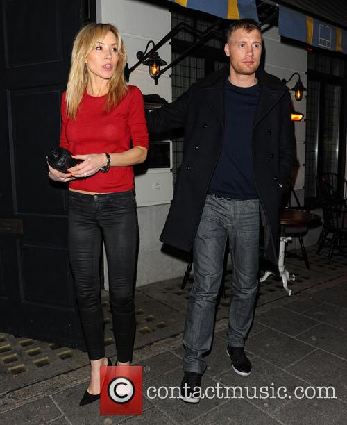 Andrew Flintoff leaves Little House with his wife