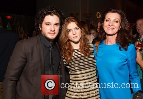 Kit Harington, Rose Leslie and Michelle Fairley 4