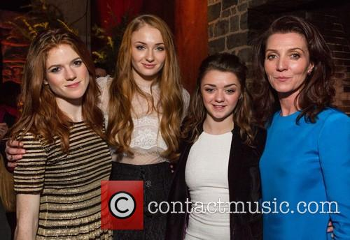 Rose Leslie, Sophie Turner, Maisie Williams and Michelle Fairley 3