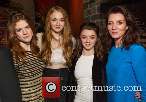 Rose Leslie, Sophie Turner, Maisie Williams and Michelle Fairley 6