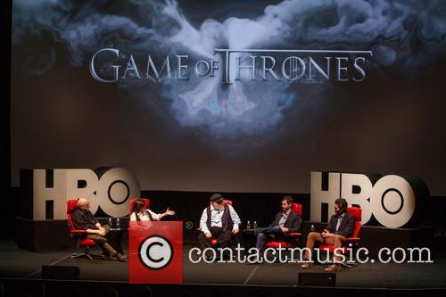 Walt Mossberg, Kara Swisher, George R.r. Martin, D.b. Weiss and David Benioff 3