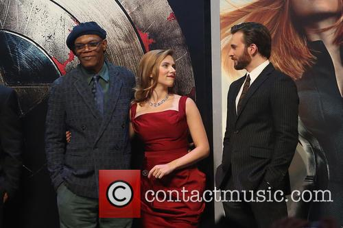 Samuel L. Jackson, Scarlett Johansson and Chris Pine