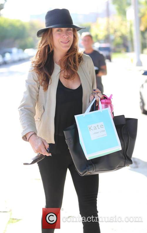 Kate Walsh exits the Kate Sommerville Skin Treatment Center