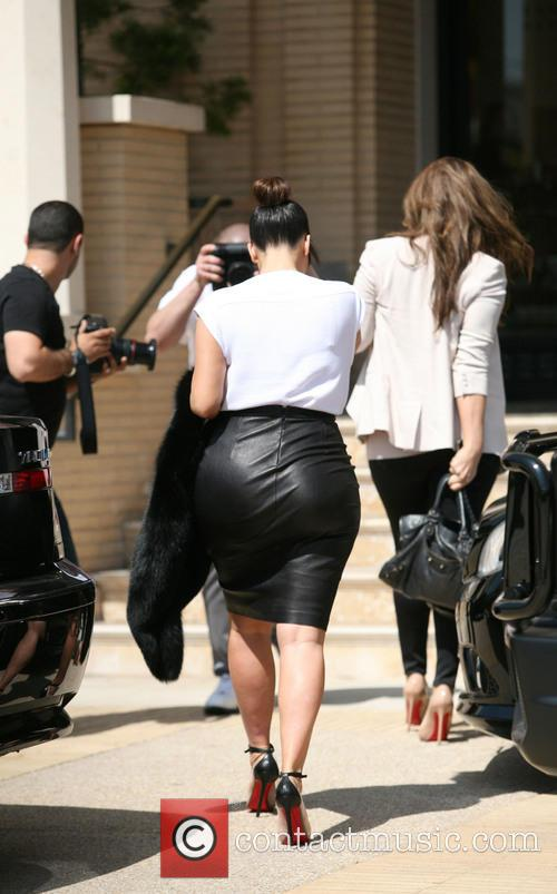 Pregnant Kim Kardashian out and about in Beverly...