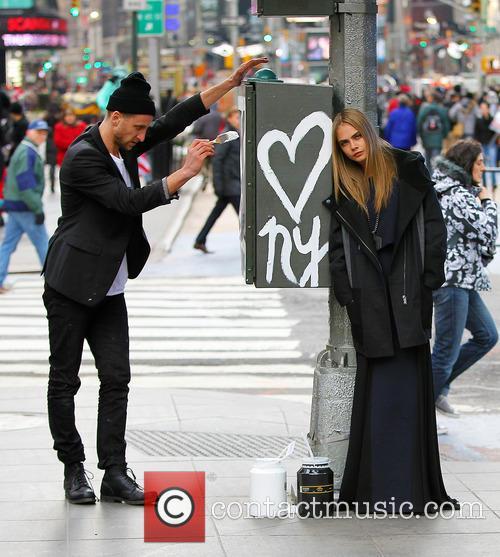Cara Delevingne, Times Square