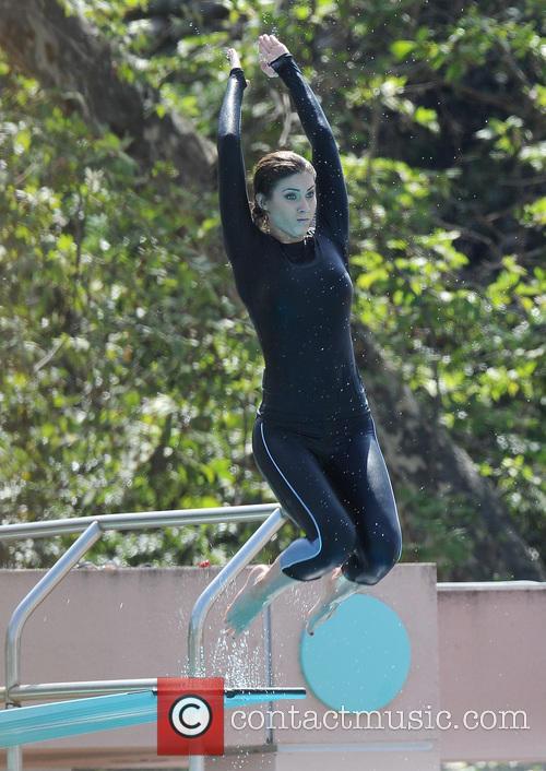 Diving Practice For TV Show 'Splash'