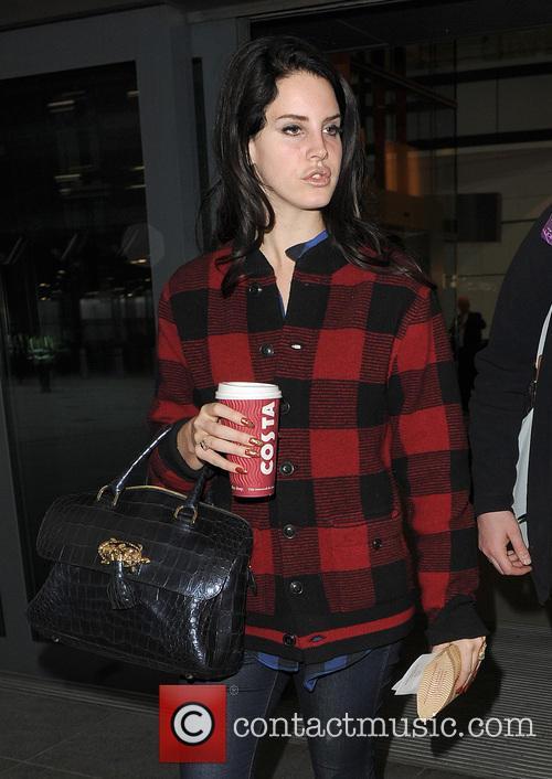 Lana Del Rey arriving at Heathrow Airport