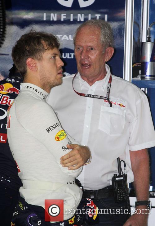 Sebastian Vettel and Dr.helmut Marko 1