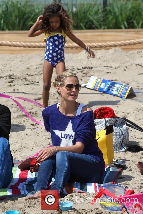 Heidi Klum, Malibu Beach
