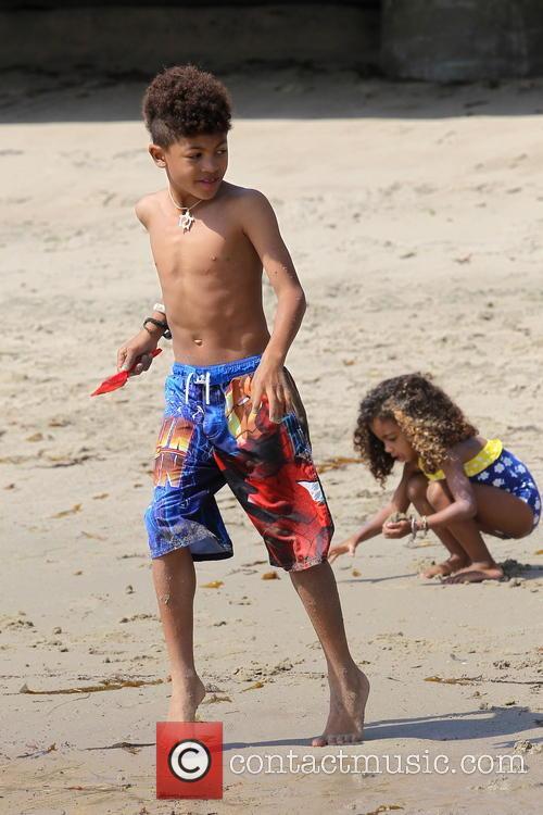 Heidi Klum, Henry Samuel, Malibu Beach