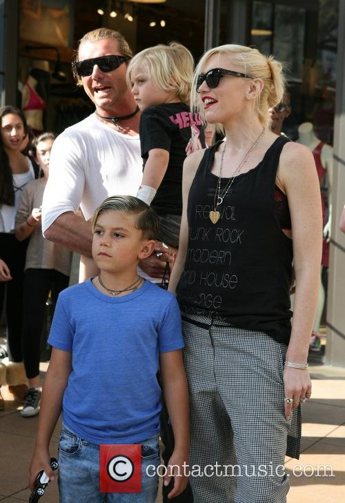 Gavin Rossdale, Gwen Stefani, Kingston Rossdale and Zuma Rossdale 6