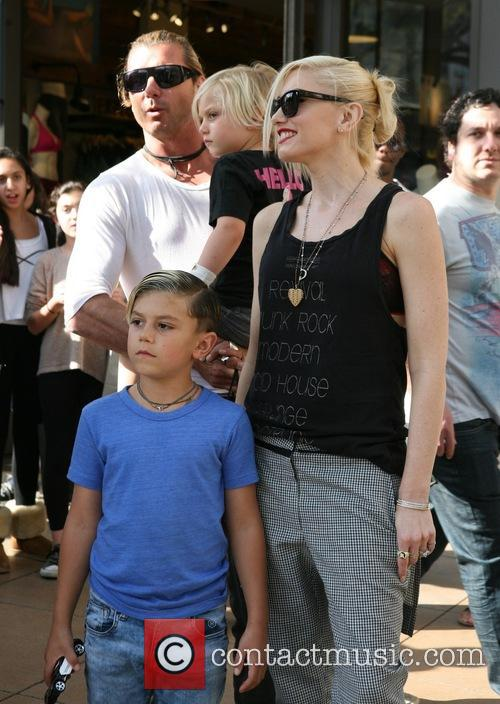 Gavin Rossdale, Gwen Stefani, Kingston Rossdale and Zuma Rossdale 8