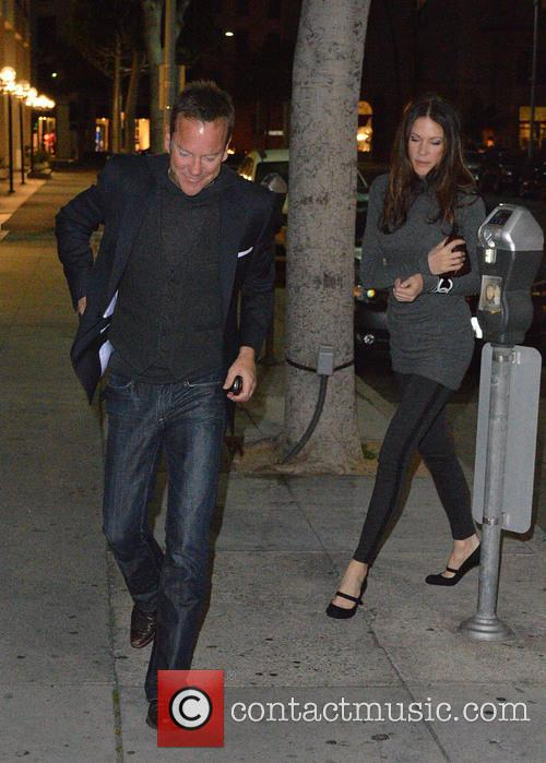 Kiefer Sutherland seen at Mr. Chow Restaurant