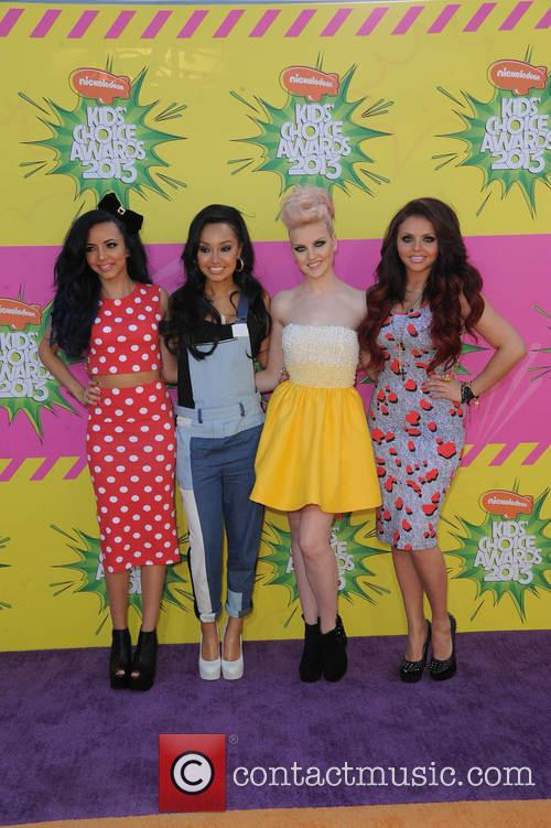 "Leigh-Anne Pinnock (l-r), Jade Thirlwall, Perrie Edwards, Jesy Nelson of ""Little Mix"", USC Galen Center"