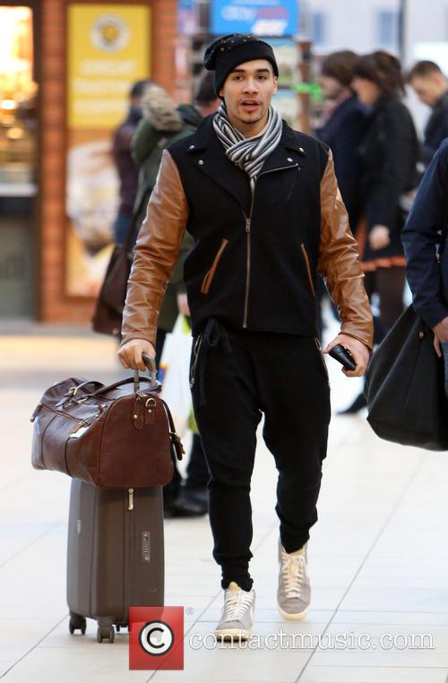 Louis Smith arrives at Liverpool station to catch...