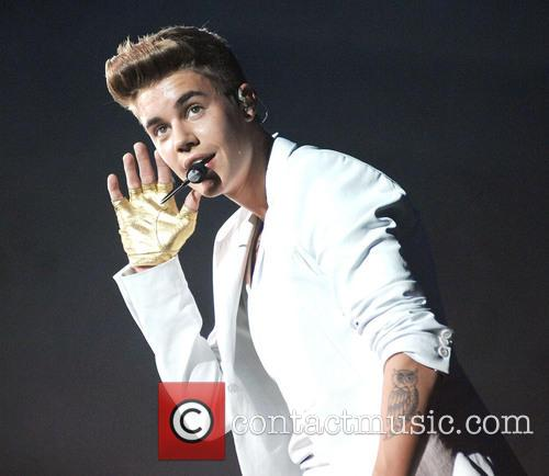 Justin Bieber performing at Unipol Arena