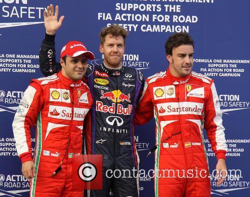 Felipe Massa, Sebastian Vettel and Fernando Alonso 2
