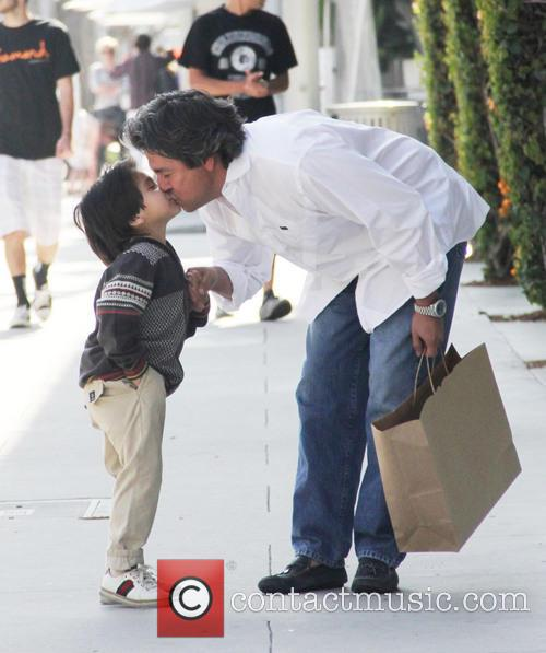 Santiago Garcia spends the day with his son