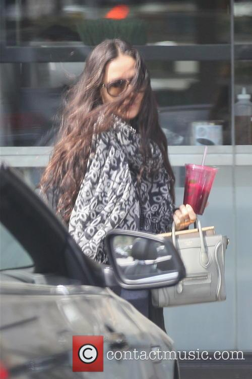 Demi Moore out shopping in West Hollywood with a health shake