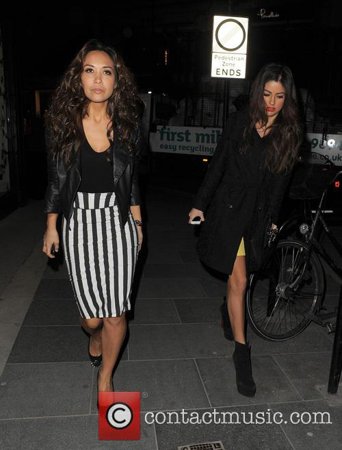 The Saturdays enjoys a night out at Amika nightclub