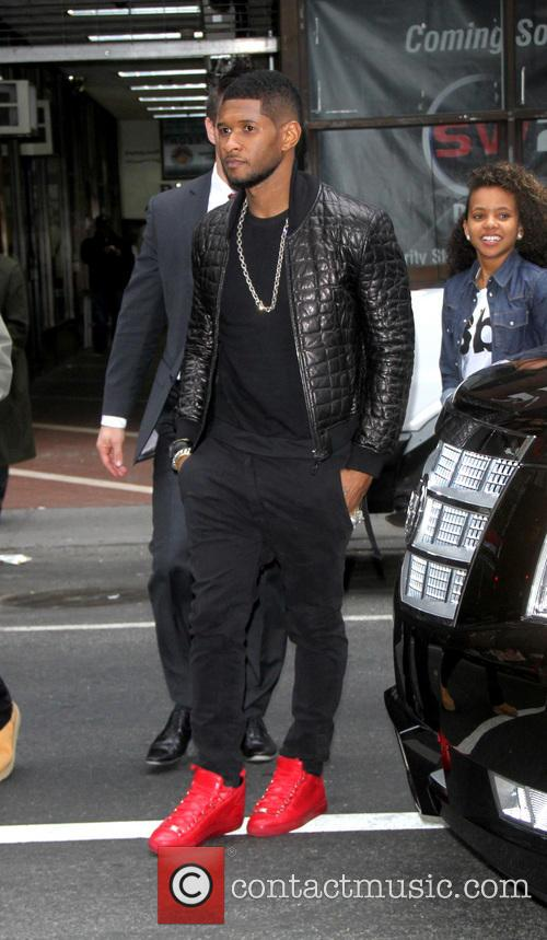 Usher arrives for the 'Today' show