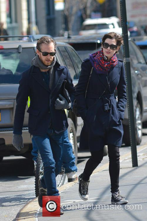 Anne Hathaway and Adam Shulman 3