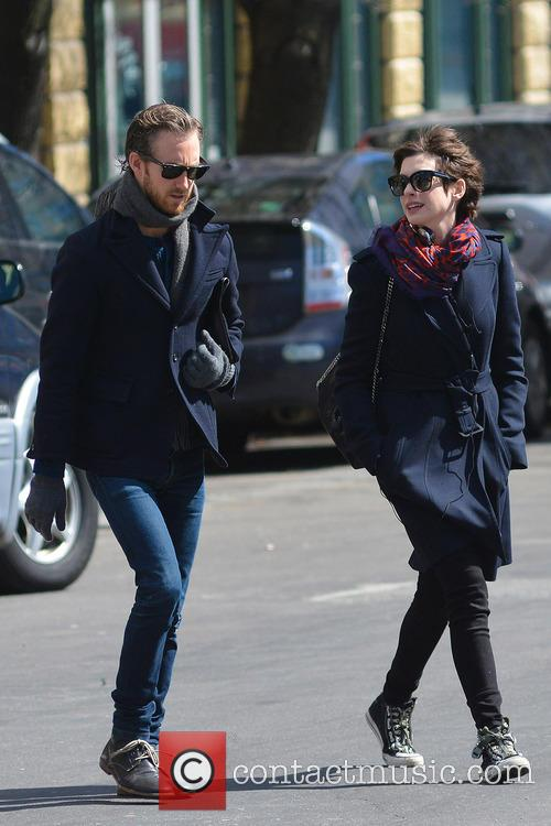 Anne Hathaway and Adam Shulman 14
