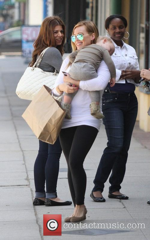 Hilary Duff at the Maxwell Dog Store