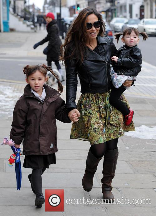Myleene Klass, Hero Quinn and Ava Quinn 1