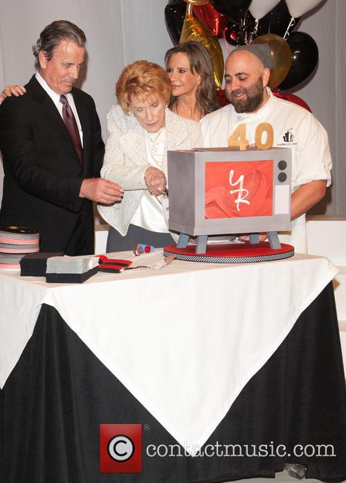 Jeanne Cooper, Melody Thomas Scott, Eric Braeden and Duff Goldman 1