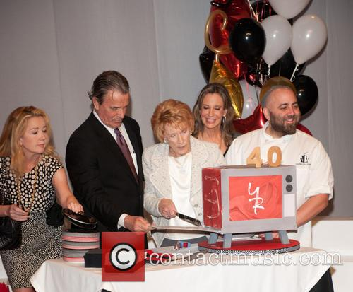 Jeanne Cooper, Melody Thomas Scott, Eric Braeden and Duff Goldman 2