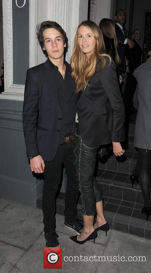 Elle Macpherson arrives at No.3 Cromwell Road