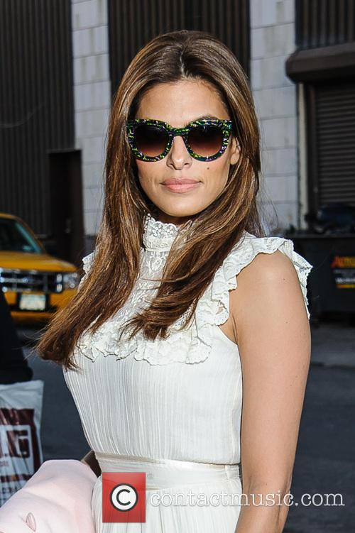 Eva Mendes arrives for the 'The Daily Show...
