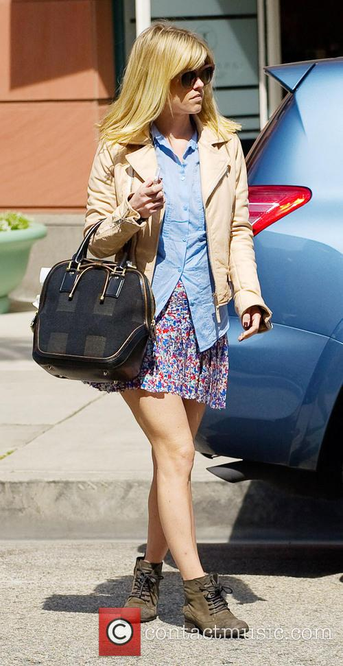 Alice Eve leaving a medical building
