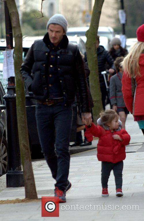 David Beckham and Harper Beckham 4