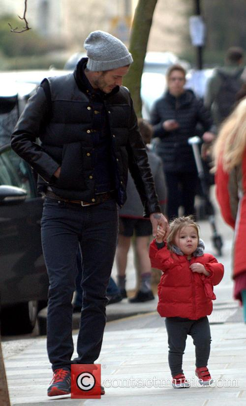 David Beckham and Harper Beckham 5