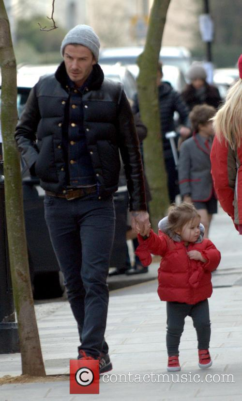 David Beckham and Harper Beckham 8