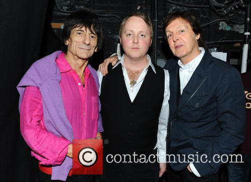 Ronnie Wood, James Mccartney and Paul Mccartney 1
