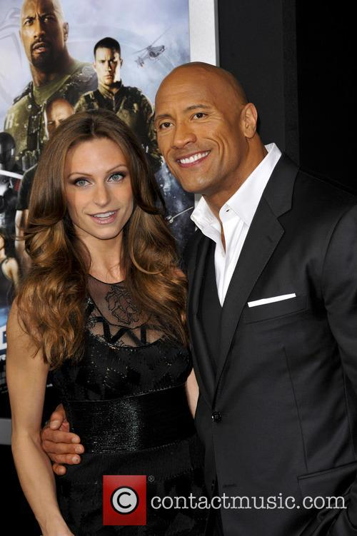 Dwayne Johnson and Lauren Hashian 2