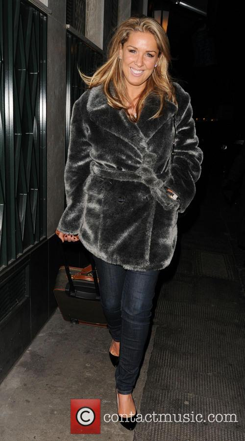 claire sweeney celebrities leaving the club at 3578689