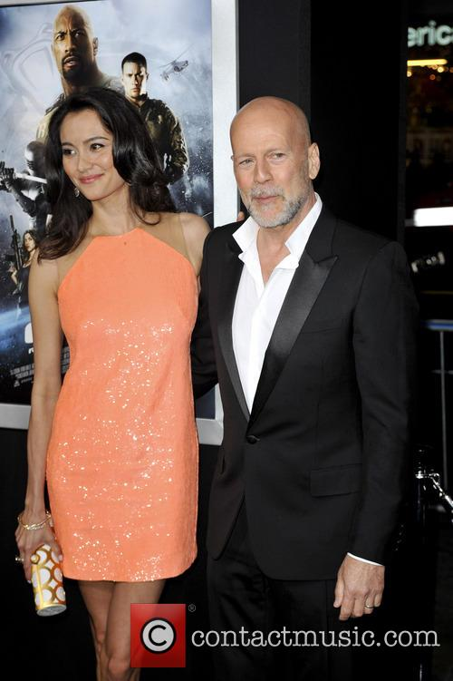 Emma Heming and Bruce Willis 5