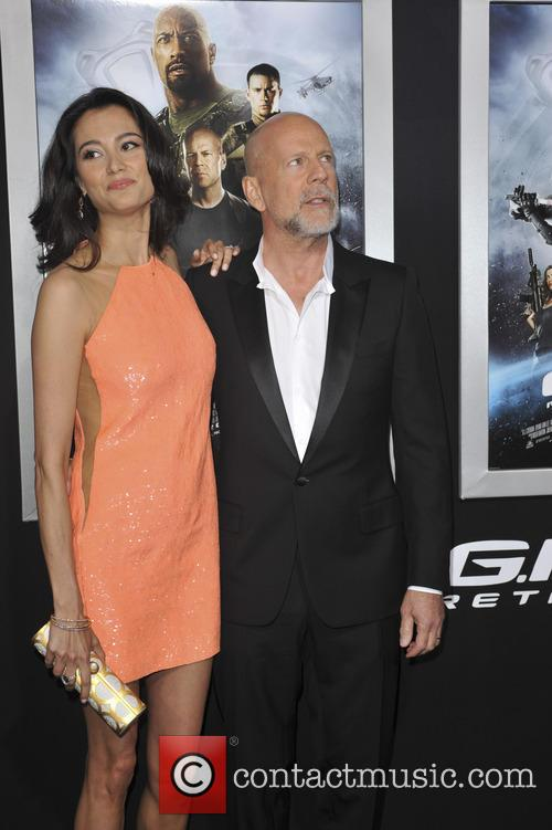 Emma Heming and Bruce Willis 10